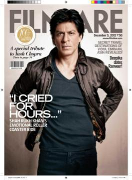 Shaharukh Dashing Photo On The Cover Page Of Filmfare Edition December 2012