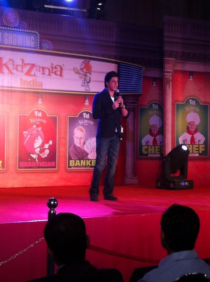 Shahrukh Khan During The Launch Of KidZania