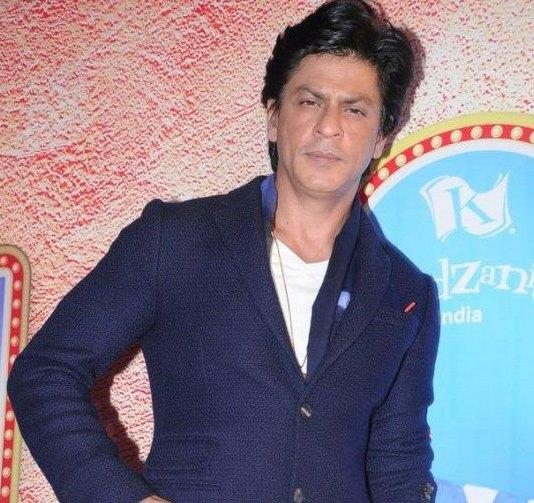 Shahrukh Poses During At A Press Conference For KidZania