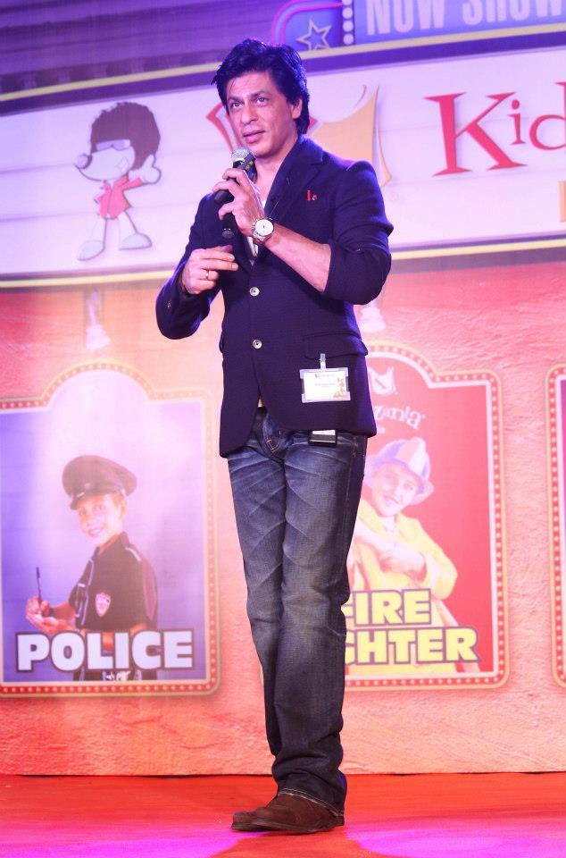 SRK At A Press Conference Announcing The Opening Of KidZania
