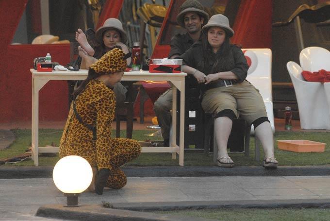 Rajev,Delnaaz,Urvashi And Sana Photo On Day 44 In Bigg Boss 6
