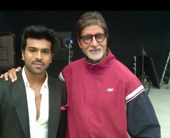 Amitabh Blesses Ram Charan On The Sets Of Zanjeer Remake