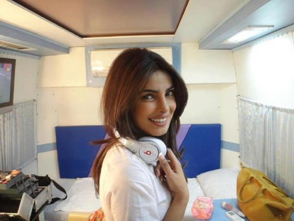 Priyanka Chopra Smiling Pose On The Sets Of Zanjeer Remake