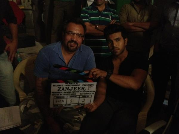 Ram Charan Teja On The Sets Of Zanjeer Remake