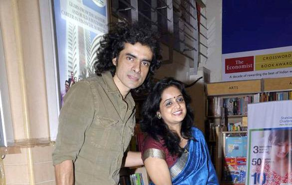 Imtiaz And Chandrima Posed For Camera At At Crossword Book Store On 'A Song for I' Book Launch
