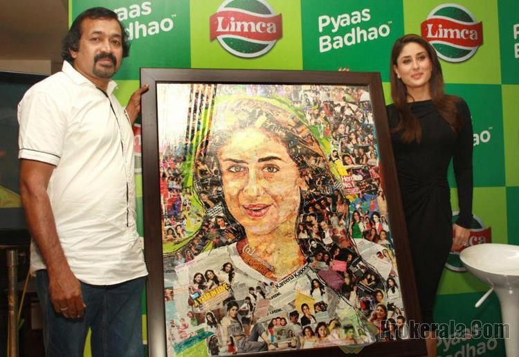 Kareena Posed For Camera With A Paint At Limca Meet & Greet Event In Delhi