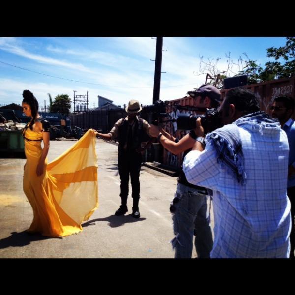 Mallika Yellow Dress Photo Shoot
