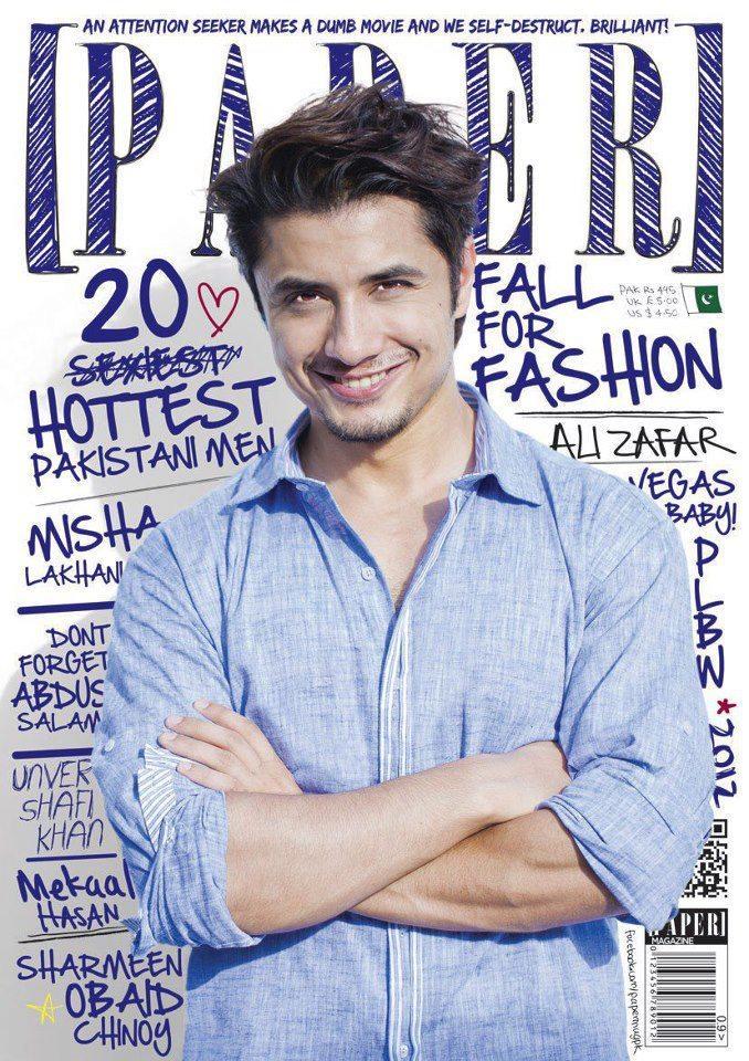 Ali Zafar Cute Smiling Photo On Cover Of  Paper Magazine