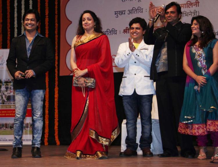 Hema Clicked At Felicitation Of Music Composer Ravindra Jain