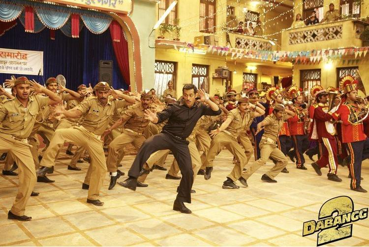 Salman Khan Dancing Still From Upcoming Movie Dabangg 2