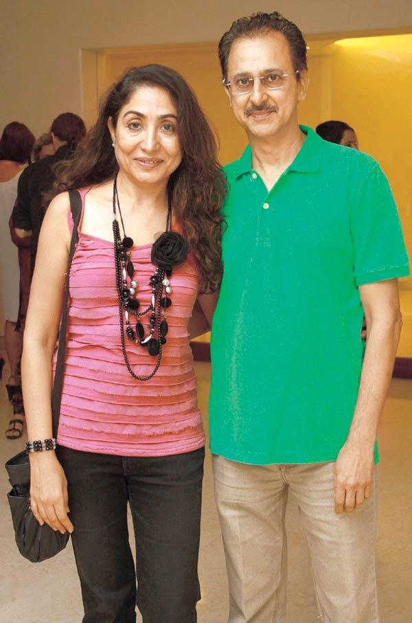 Jaideep And Seema Mehrotra Spotted At An Art Evening