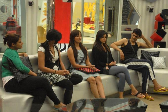 Urvashi,Karishma,Mink,Sana And Niketan Sitting Still On Day 46 In Bigg Boss 6