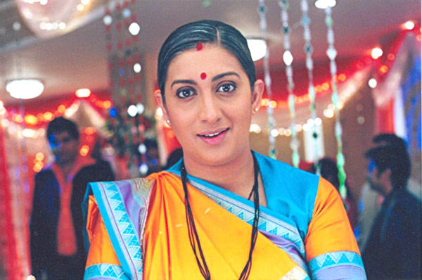Smriti Irani Nice Look Photo With Little Smile In Face