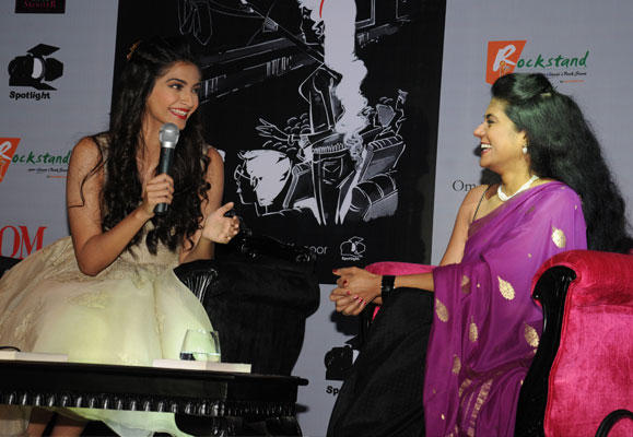 Sonam With Anna Spotted At The Adventures Of An Intrepid Film Critic Launch Function