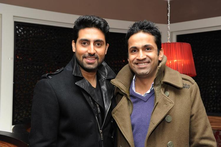 Abhishek And Asjad Nazir Posed For Camera In A Smiling Face