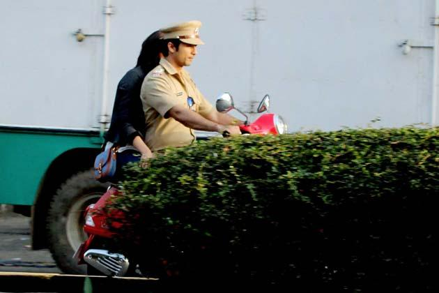Shahid Is Seen In A Police Uniform On The Sets Of The Film