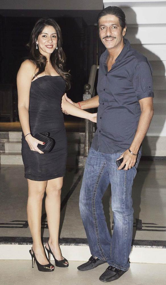 Chunkey With Wife Bhavna Spotted At Shilpa Shetty's Bash For Shane Warne And Liz Hurley