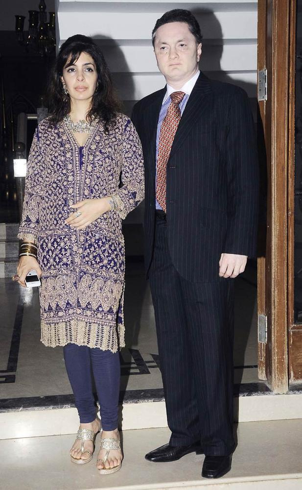Gautam With Wife Nawaz Modi At Shilpa Shetty's Bash For Shane Warne And Liz Hurley