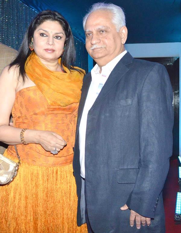 Ramesh With Wife Kiran Posed For Camera At Sun N Sand Golden Jubilee Function