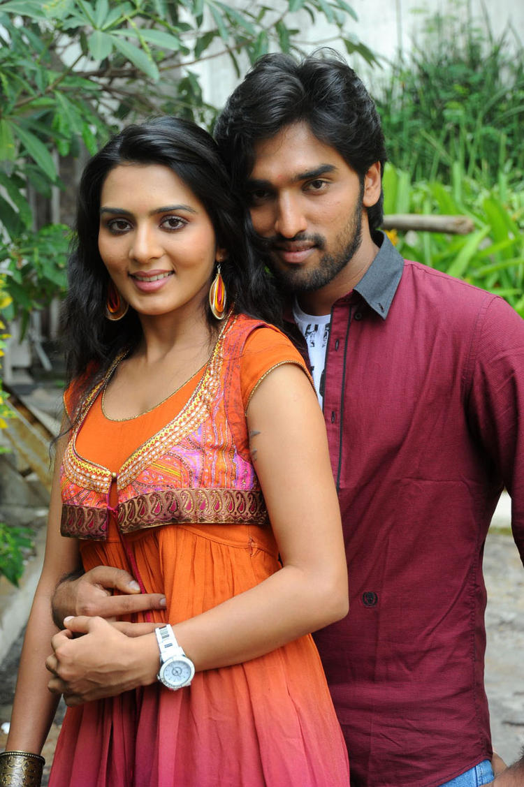 Sindhu And Aneesh Cosy Photo Still At Coffee With My Wife Movie Launch