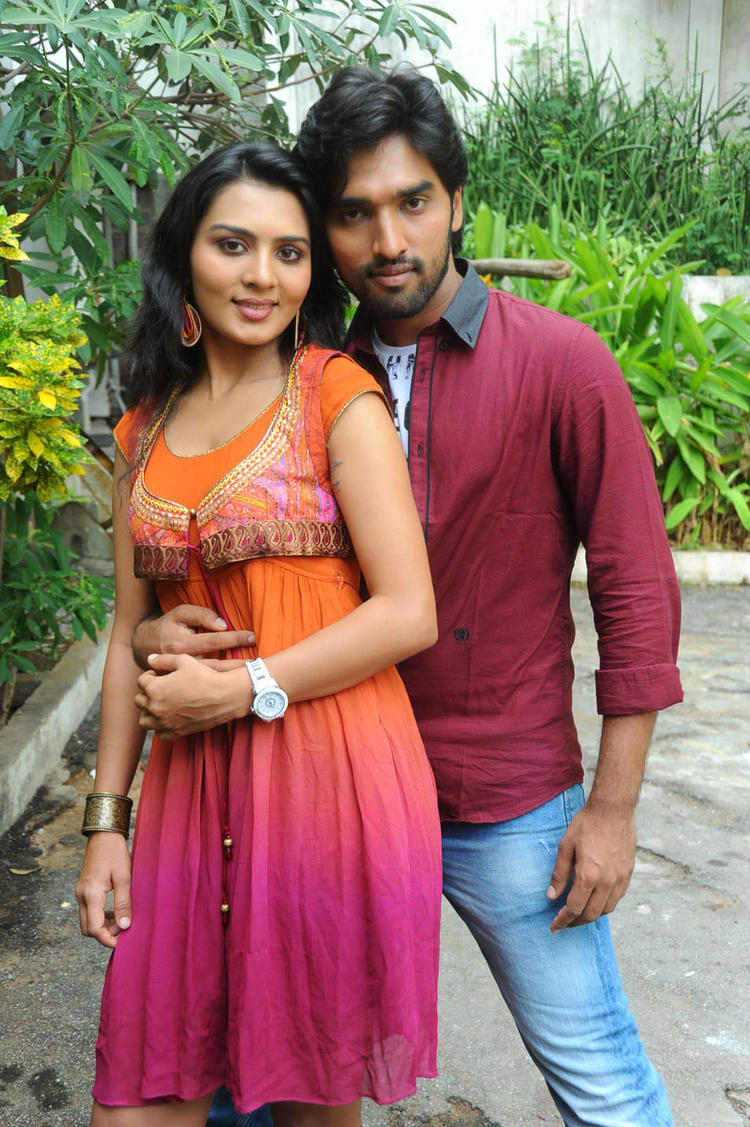 Sindhu And Aneesh Smiling Look Photo At Coffee With My Wife Movie Launch
