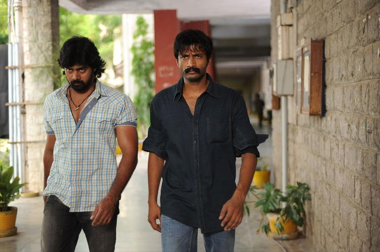 Naveen Chandra And Kishore Photo Still From Telugu Movie Dhalam
