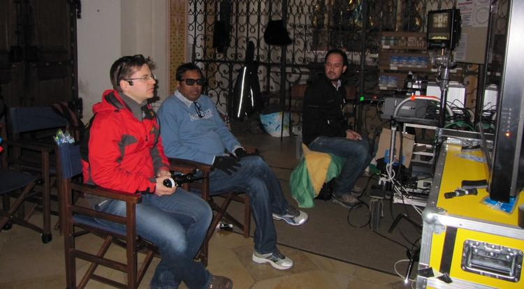 Gunasekhar At On The Sets Of Rudrama Devi