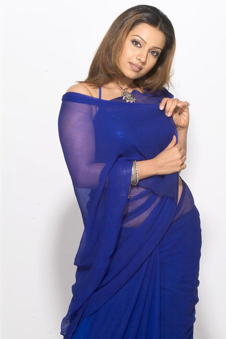 Mayuri Cute Look Photo Shoot In Blue Saree