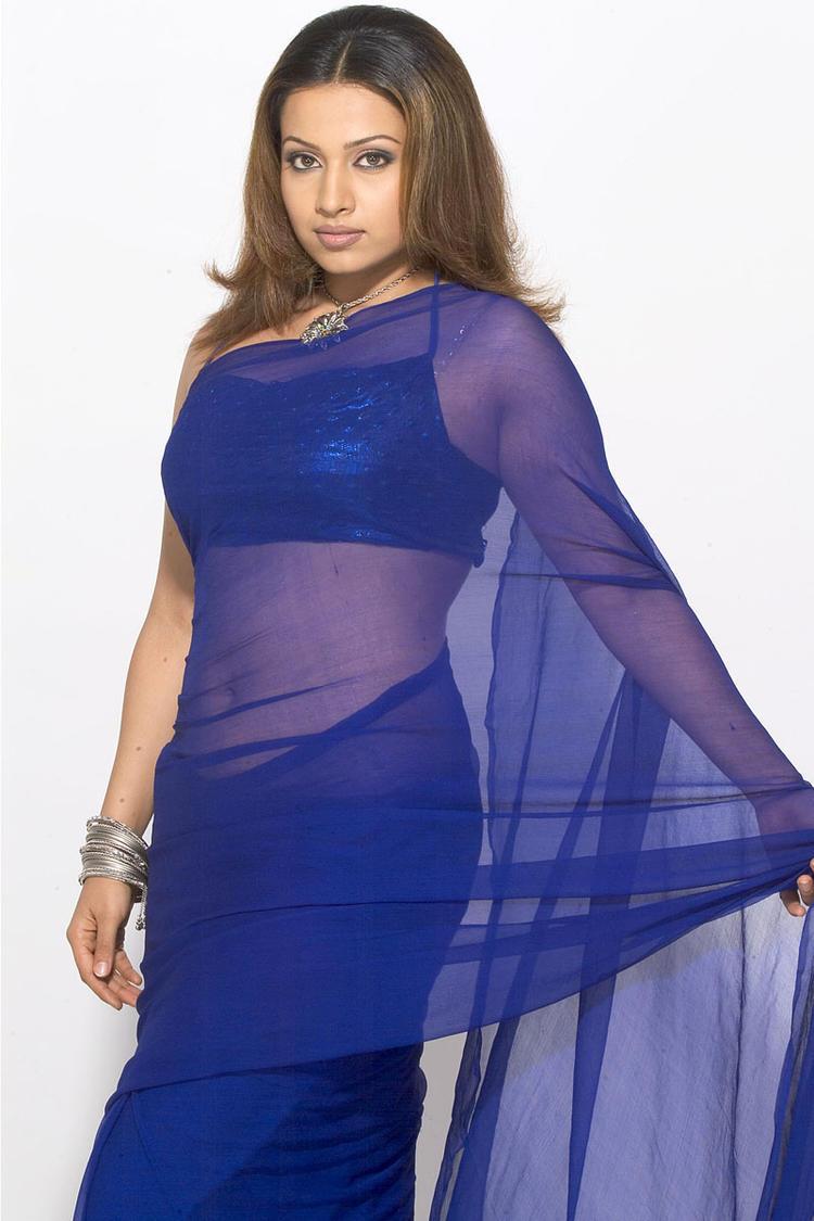 Mayuri Cute Sexy Pose Photo Shoot In Transparent Saree
