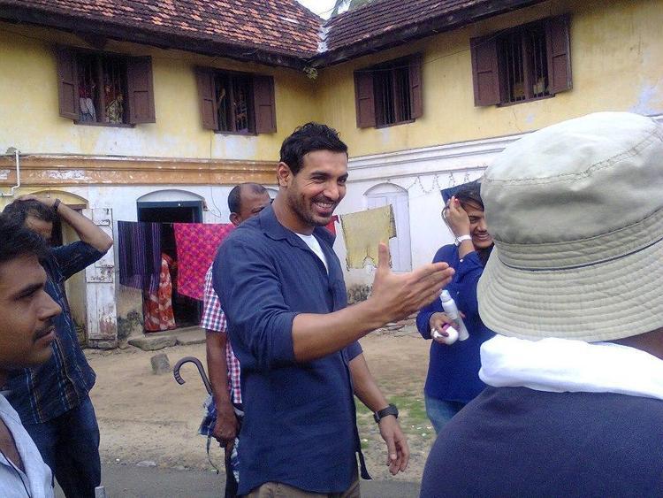 John Abraham Smiling Still At Kochi Fort During The Hindi Movie Jaffna Shooting