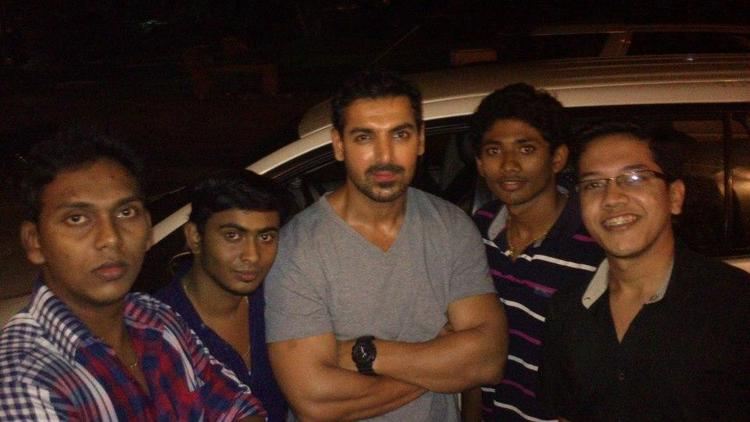 John Abraham Spotted At Kochi Fort With Fans During The Hindi Movie Jaffna Shooting