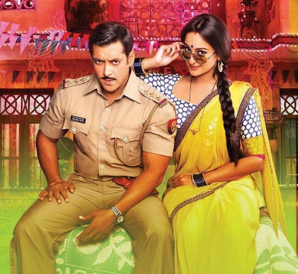 Salman And Sonakshi Stylish Dabangg Look From Movie Dabangg 2