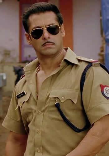 Salman Dabangg Style Look Photo In Uniform From Movie Dabangg 2