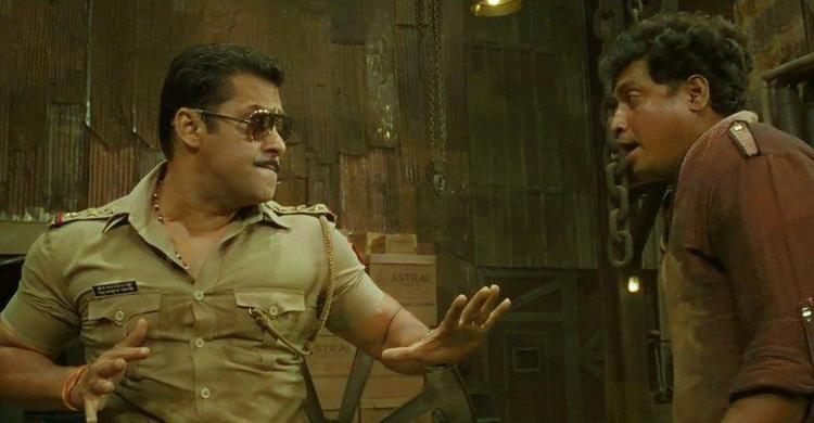 Salman Fight Scene Photo Clicked From Movie Dabangg 2