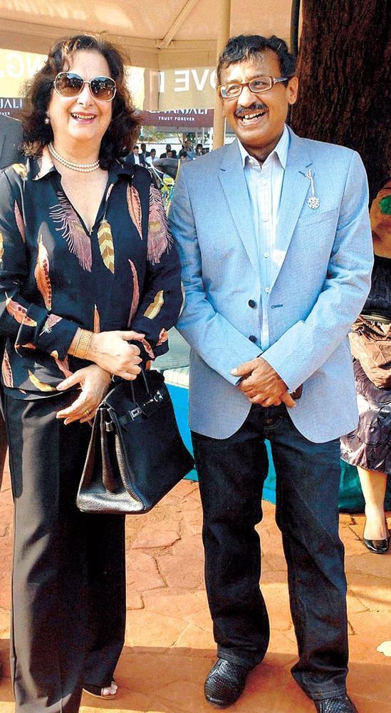 Vivek Jain With Anahita Mehta At Gitanjali Race In RWITC