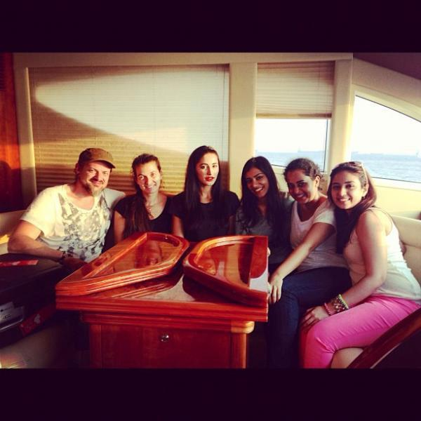 Nargis Fakhri With Friends Nice Photo Shoot On A Yacht