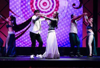 Karisma Gorgeous Dancing Still At The Masala Awards 2012