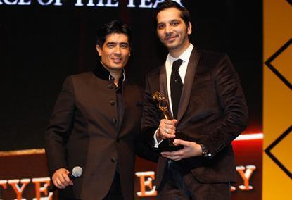 Manish And Nitin Smiling Still At The Masala Awards 2012