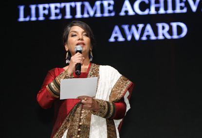 Shabana Azmi Photo Clicked On The Stage At The Masala Awards 2012