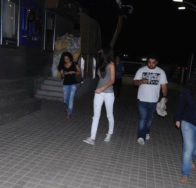 Anushka Sharma With Friends Photo Clicked  At PVR Juhu