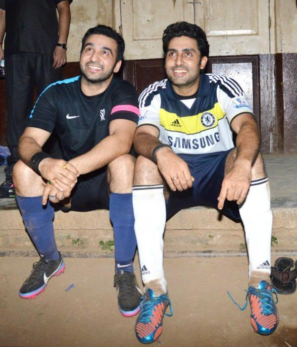 Abhishek And Raj Cute Smiling Still From The Football Practice Session