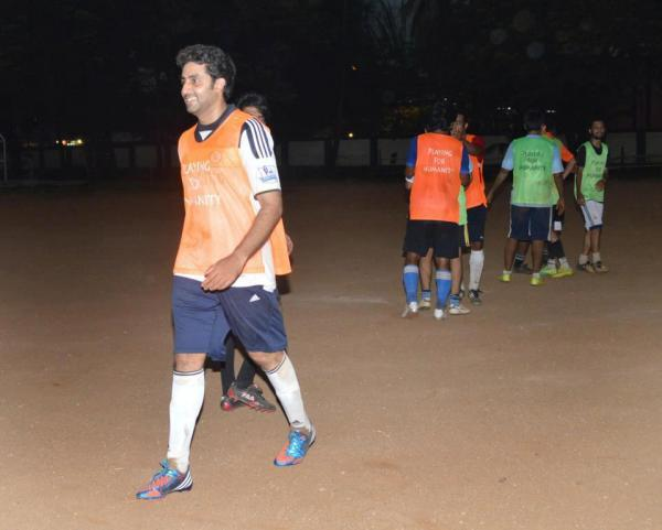 Abhishek Looked Nice In Football Jersey