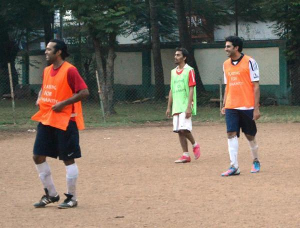 Abhishek Smiling Still While Playing Football
