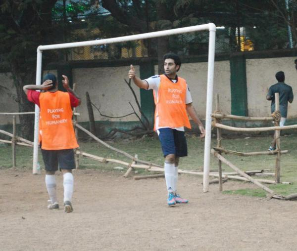 Abhishek Snapped On The Football Practice Session