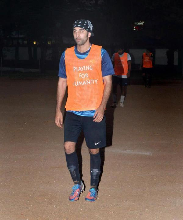 Ranbir Kapoor Photo Clicked From The Football Practice Session