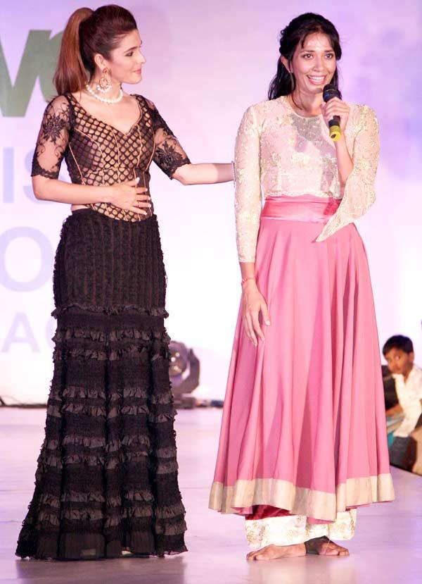 Raageshwari Loomba On Ramp At Global Peace Fashion Show