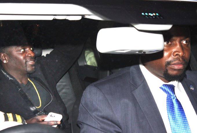 Akon At Airport For Attend Dabangg 2 Screening