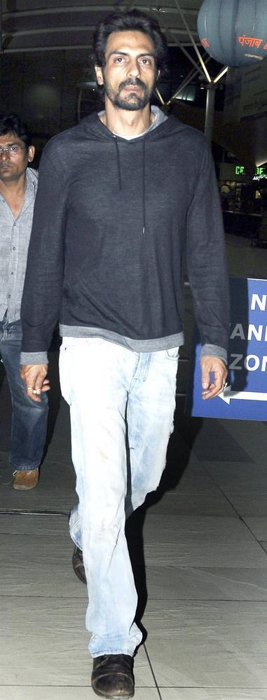 Arjun Rampal Clicked During Attend The Dabangg 2 Screening