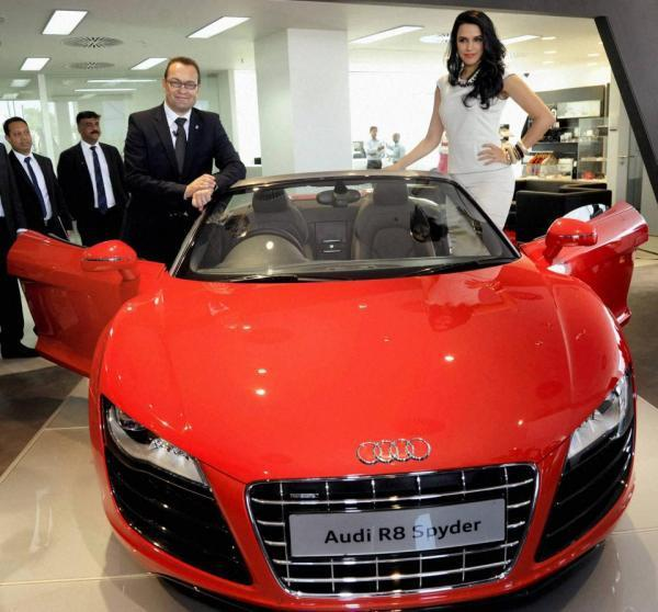 Neha Dhupia At Audi Showroom Launch In Ahmedabad