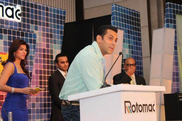 Salman Khan Press Meet Still At Rotomac Pen Promotional Event